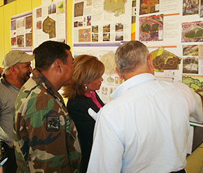 group looking at maps